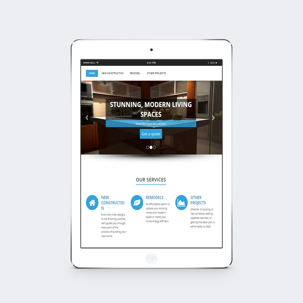 House of Construction Website